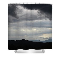 Storm At Lewis Fork Overlook 2014b Shower Curtain