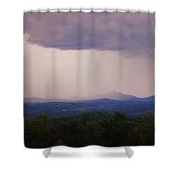 Storm At Lewis Fork Overlook Shower Curtain