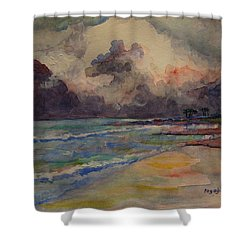 Storm Beach Shower Curtain
