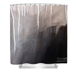 Storm Brewing Shower Curtain by Linda Woods