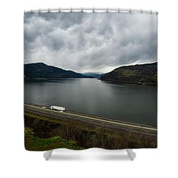 Storm Brewing On The Columbia Shower Curtain