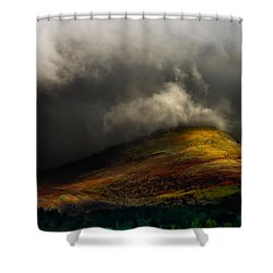 Storm Brewing Over Hawkshead Shower Curtain by Meirion Matthias
