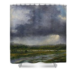 Storm Brewing Over The Refuge Shower Curtain