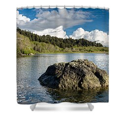Storm Clearing On The Little River Shower Curtain
