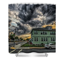 Storm Clouds At Sunset Shower Curtain
