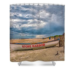 Storm Clouds In Stone Harbor Shower Curtain