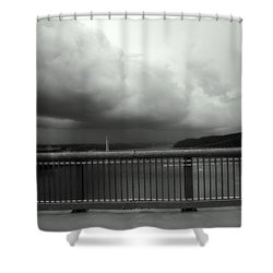 Storm Clouds On The Hudson Shower Curtain