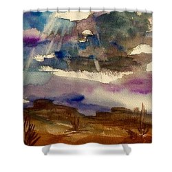 Storm Clouds Over The Desert Shower Curtain