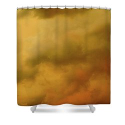 Storm Clouds Polaroid Transfer  Shower Curtain by Tony Grider