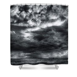 Storm Clouds Ventura Ca Pier Shower Curtain
