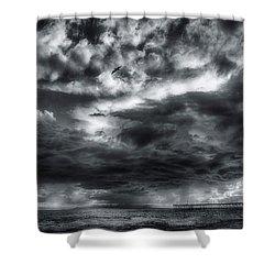 Storm Clouds Ventura Ca Pier Shower Curtain
