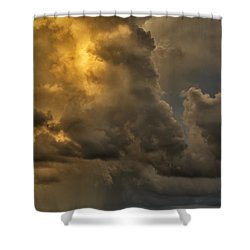 Storm Couds And Mountain Shower Shower Curtain by Thomas R Fletcher