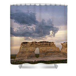 Shower Curtain featuring the photograph Storm Dragon by Rob Graham