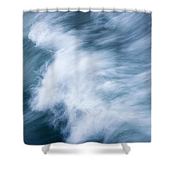 Storm Driven Shower Curtain by Mike  Dawson