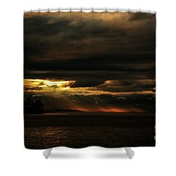 Storm Shower Curtain by Elaine Hunter