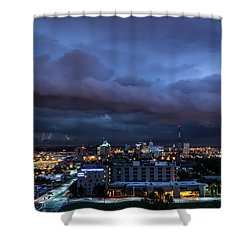 Shower Curtain featuring the photograph Storm Front by Andrea Silies