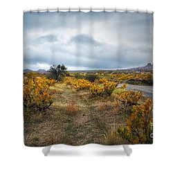 Shower Curtain featuring the photograph Storm In Cappadocia by Yuri Santin