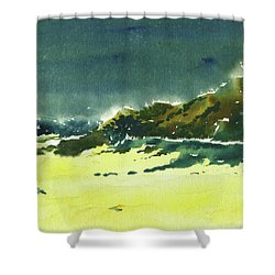 Storm Is Brewing Shower Curtain by Anil Nene