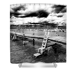 Storm Is Brewing At Lbi Shower Curtain