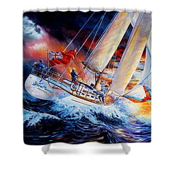 Shower Curtain featuring the painting Storm Meister by Hanne Lore Koehler