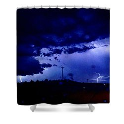 Storm On Farmer's Turnpike Shower Curtain