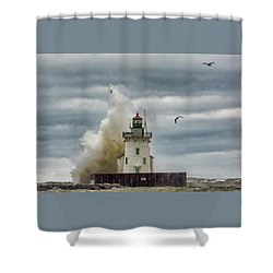 Storm On Lake Erie Shower Curtain