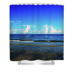 Shower Curtain featuring the photograph Storm On The Horizon by Gary Wonning