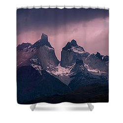 Storm On The Peaks Shower Curtain by Andrew Matwijec
