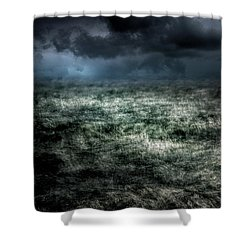 Storm On The Sound Shower Curtain