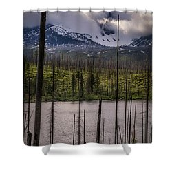 Shower Curtain featuring the photograph Storm On Three Fingered Jack by Cat Connor