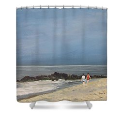 Storm Out To Sea Shower Curtain