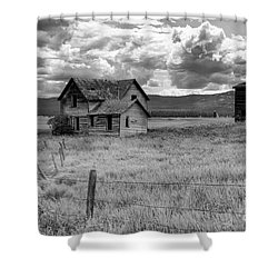 Storm Over Big Sky Montana Shower Curtain