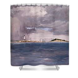 Storm Over Boston Shower Curtain