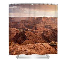 Storm Over Canyonlands Shower Curtain