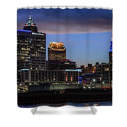 Storm Over Cleveland Shower Curtain