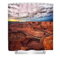 Storm Over Dead Horse Point Shower Curtain