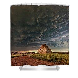 Storm Over Dinosaur Shower Curtain