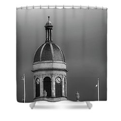 Storm Over Dome In Black And White Shower Curtain