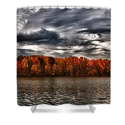 Storm Over Lake Nimisila Shower Curtain