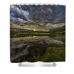 Storm Over Madison River Valley Shower Curtain