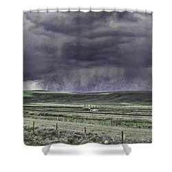 Storm Over Monida Pass  Shower Curtain