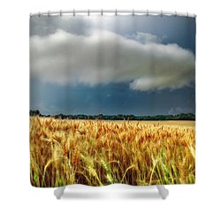 Storm Over Ripening Wheat Shower Curtain