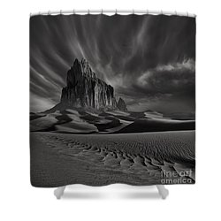 Storm Over Shiprock New Mexico Shower Curtain
