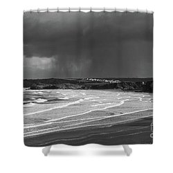 Shower Curtain featuring the photograph Storm  Over The Bay by Nicholas Burningham