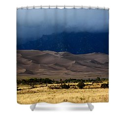 Storm Over The Great Dunes Colorado  Shower Curtain