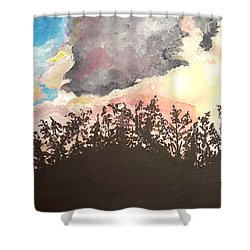 Storm Passing Through Shower Curtain