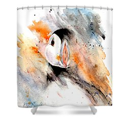 Storm Puffin Shower Curtain