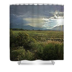 Storm Rays Shower Curtain