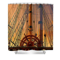 Storm Ship Of Old Shower Curtain