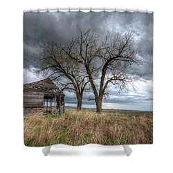 Storm Sky Barn Shower Curtain